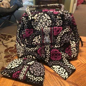 Vera Bradley purse, wallet and checkbook cover